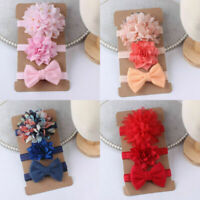 3Pcs/set Baby Headbands For Newborn Baby Girls Bow Knot Turban Kids Headwear NEW