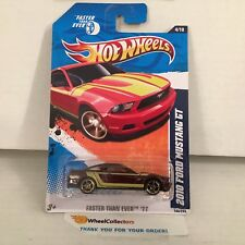 2010 Ford Mustang GT #144 * w/ Window Banner * 2011 Hot Wheels * A13