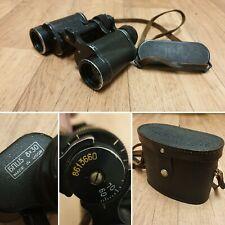 Komz БПЦ5 8x30 Russian Binoculars 1986 CCCP USSR Soviet Republic in Leather Case
