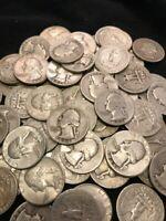 (10) 90% SILVER Washington Quarters pre-1964 (TEN Coin lot) BUY SILVER