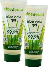 Aloe Pura Gel à l'Aloe Vera 100ml x2 Paquet Double -99.9% pure Organique