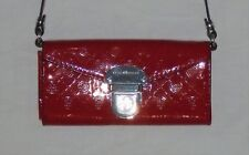 DANA BUCHMAN - CROSS BODY / SHOULDER BAG / PURSE – RED PATENT & SILVER - NEW $42