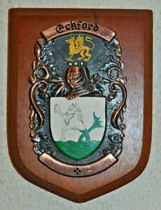 Eckford plaque shield family crest coat of arms