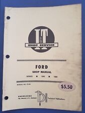 Ford  I&T Shop Service Manual - Series 1000 & 1600  FO-36  1979