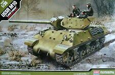 "Academy 1:35 USSR M10 ""Lend Lease"" Tank With Soviet Tank Crew Figures Model Kit"