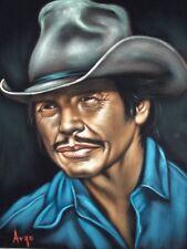 Charles Bronson badass cowboy velvet oil painting, 100% handpainted