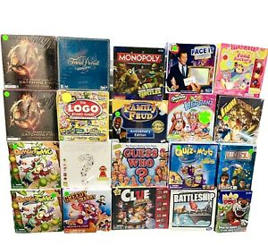 Lot Of 20 Board Games Trivial Pursuit, TMNT, Monopoly More New Box Damage Sale