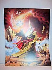 "1988 Scafa-Tornabene Wizard Holding Sphere 16""x 20"" Fantasy Wall Art Print"