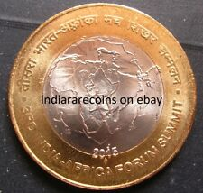 2015 Bimetallic BIMETAL India Africa Forum Summit Map Tiger Coin 10 Rs Unc NEW