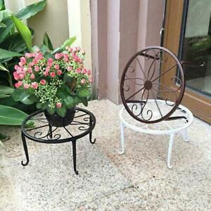 1x Metal Wrought Iron Outdoor Indoor Pot Plant Stands Decor Racks Flower X0B9