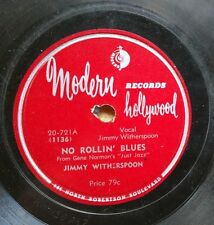BLUES 78: JIMMY WITHERSPOON No Rollin' Blues/Big Fine Girl MODERN 20-721