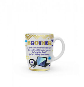 New boxed Brother present gift fine china mug coffee cup Free P+P