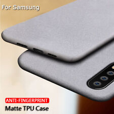 Anti Fingerprint Case Soft Silicone Matte Thin TPU Cover For  Samsung A50 A40