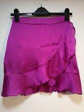 """Missguided Purple Ruffled Zip Up Mini Skirt - W26"""" L18"""" - Size 6 (482)"""