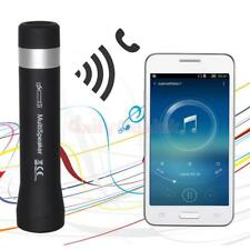 LED Bike Light Flashlight Wireless Speaker MP3 Player FM Radio Power Bank