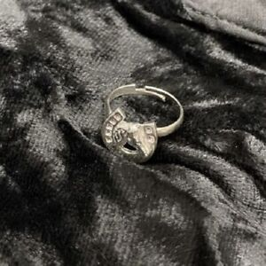 Grays Horse Shoe with Horse head Silver Coloured Ring Adjustable