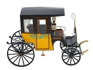 """European carriage TAXI Barcelona Scale 1/10 7.8 """" Wood Model kit"""