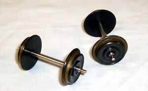 HEAVY SOLID BRASS METAL WHEELS WITH STAINLESS STEEL SHAFTS - G SCALE - LGB PIKO