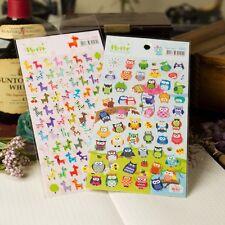 2 sheet owl giraffes decorate stationery notebook diary calendar paper sticker