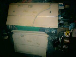 GOOD Used Match Set 4 Genuine Mercedes Door Panels Ivory Leather W108,109 300SEL