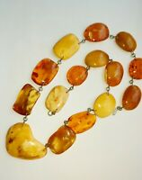Genuine vintage necklace natural Baltic amber Egg Yolk Butterscotch Honey