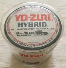 NEW Yo-zuri Hybrid Fishing Line Fluorocarbon Polymer Spool 8 pound Clear 850 yrd