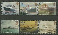 GB 2004 QE2 Ocean Liners Used set of 6 stamps  ( C230 )