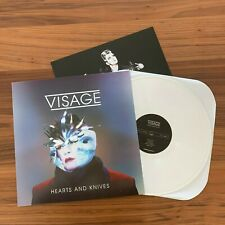 VISAGE Hearts and Knives WHITE Vinyl LP Out of Print With Insert Fade To Grey