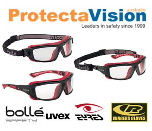 Bolle ULTIM8 ULTIPSI Safety Glasses With Interchange Strap & Sidearm Clear Lens