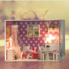 1:24 DIY Wooden Miniature Kit Doll House Kit Best Birthday Gift (Queen Room)