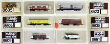 MARKLIN Z SCALE 6 Assorted Freight Cars  C8 Marklin Boxes