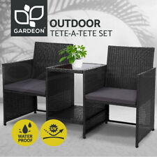 Gardeon Outdoor Furniture Wicker Chairs Table Setting Birstro Set Patio Garden