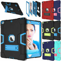 """Shockproof Rugged Defender Case with Stand For New iPad 6th Generation 9.7"""" 2018"""