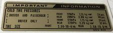 Cadena de información de Honda MBX80 Neumáticos Calcomanía de advertencia de precaución
