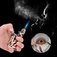 Sexy Portable Windproof Jet Torch Butane Gas Metal Soundable Cigarette Lighter