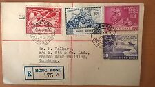 Hongkong 1949 UPU FDC Registered