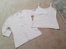Damen Twin Set, Jacke, Top, Sonnentop, rosa, rose, Gr. S, 36 / 38, 2 Teile,