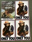 Lot 4 Vintage Original Smokey Bear Posters  Only you can prevent Forest Fire (4)