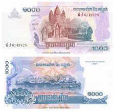 Cambogia 1000 riels 2007 UNC banconote P-58b
