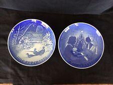 Two Vintage Bing & Grondahl B&G Christmas Plates Jule Aften 1970 & 1971