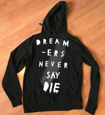 GLAMOUR KILLS GLMR KLLS HOODIE PULLOVER DREAMERS NEVER SAY DIE SIZE S SMALL