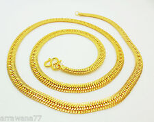 22K 23K 24K THAI BAHT YELLOW GOLD GP Filled NECKLACE 24 inch 33 Gram Jewelry