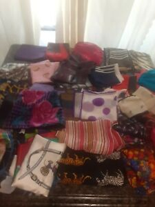 Mixed lot of vintage womans scarf 45 total