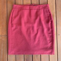 Vintage Trent Nathan Size 12 Skirt Rust Red Pockets Lined Work Business