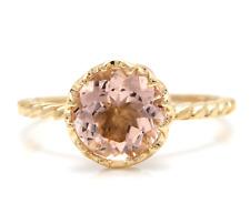 2.00 Carats Natural Morganite 14K Solid Yellow Gold Ring