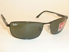 New  RAY BAN  Sunglasses  Black Frame  RB 3498 002/71  Green Lenses  61mm