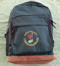Highland Oaks Hawks California School Backpack Knapsack Bag Leather/Suede Bottom