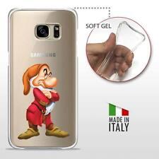 Samsung Galaxy S7 CASE COVER PROTETTIVA GEL TRASPARENTE Disney Brontolo 7 Nani