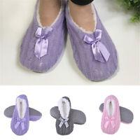 Women Winter Warmer Knitted Bow Anti-Slip Antiskid Sole Socks Floor Slippers New