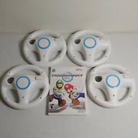 Nintendo Wii MARIO KART game 4 Wheels BUNDLE Steering/Racing lot